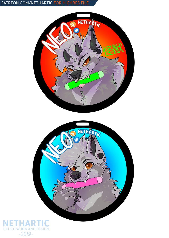 neonfur badge personal