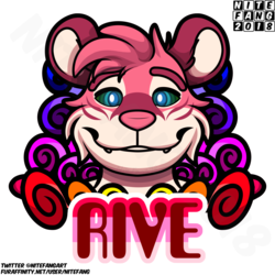{SC} Rive Psychedelic Badge