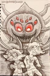 Inktober 13: Arachnophobia