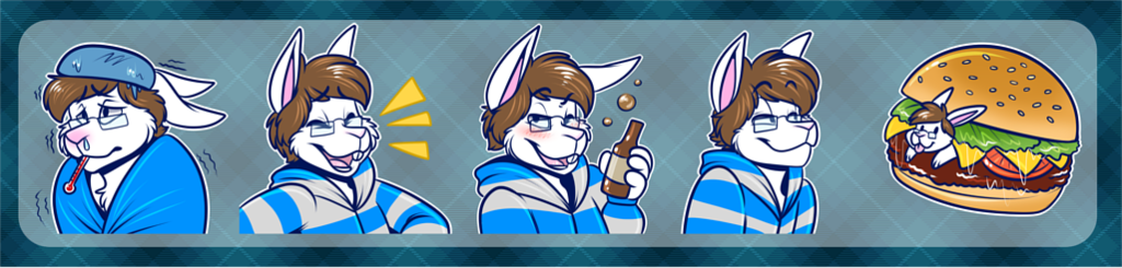 [commission] Telegram Stickers: Nicholas #3