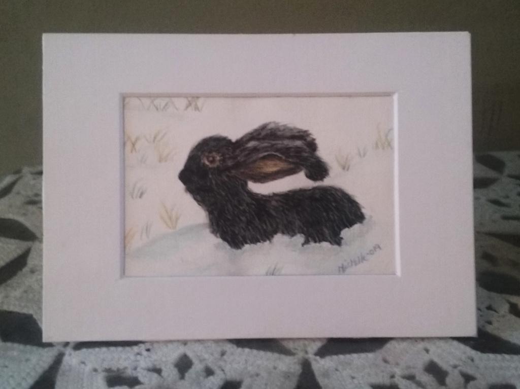 Ebony Rabbit Greeting Card