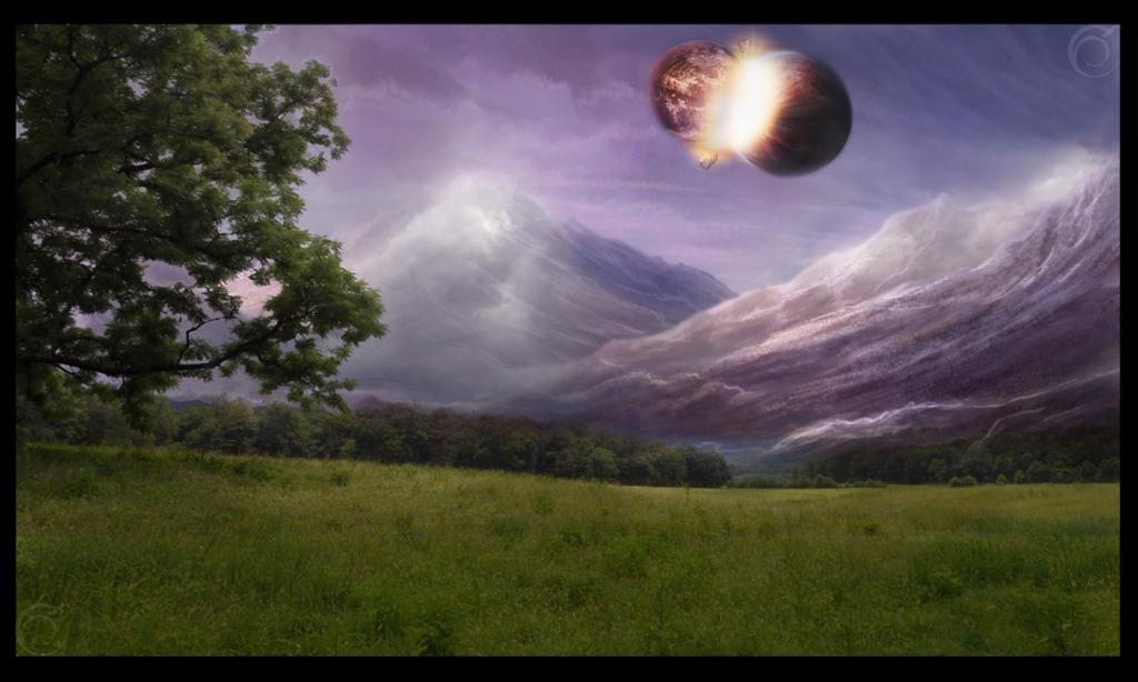When Worlds Collide (landscape)