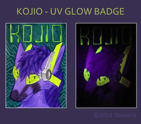 Kojio UV Glow Conbadge