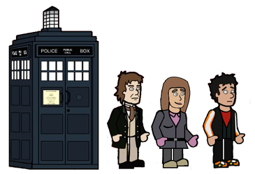 The 8th Doctor and his friends