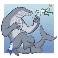 Blue Pilchard & Bryde's Whale