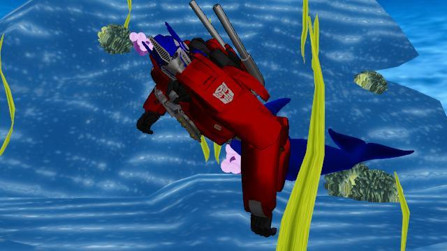 Optimus prime Merman autobot MMD