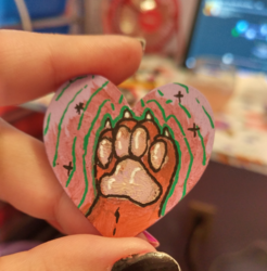 Heart Paw Painting - Zin