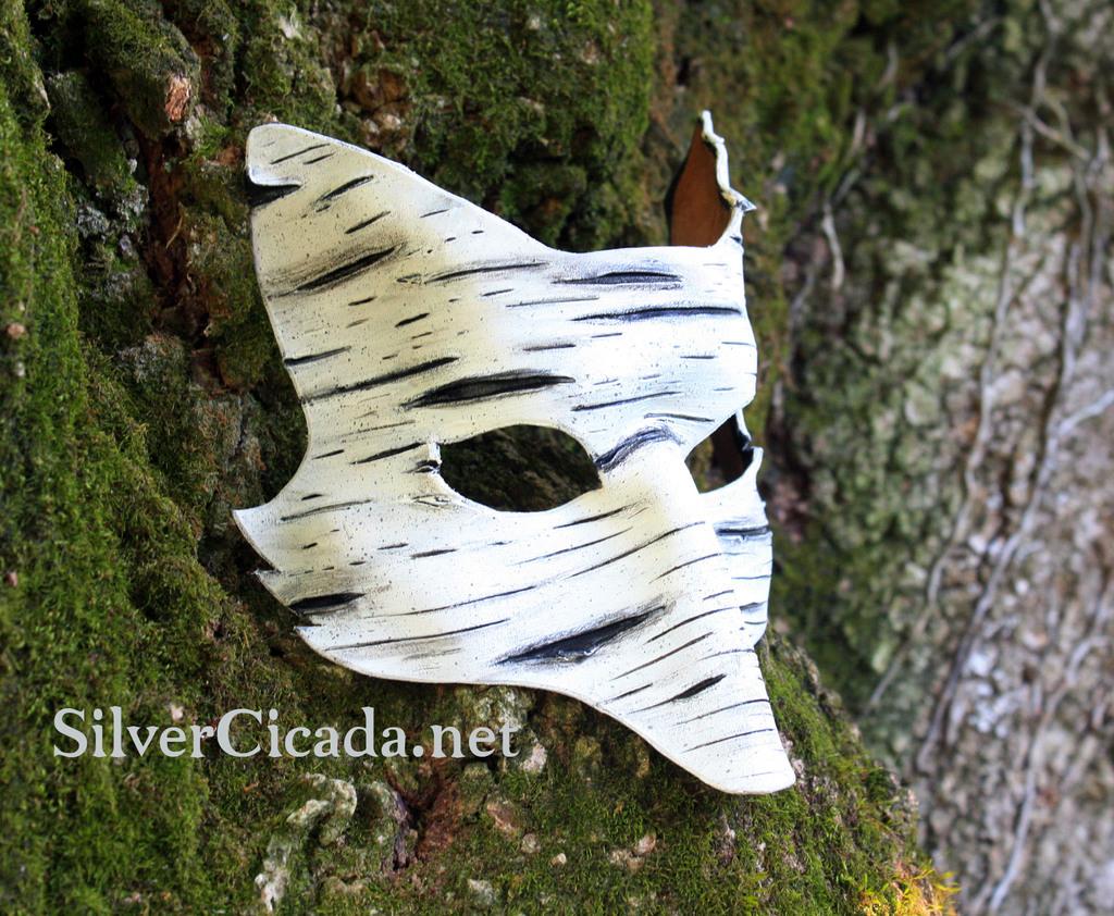 Birch Fox Leather Mask