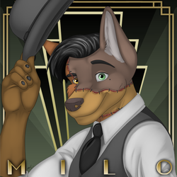 Anthrocon Badge (clothed)