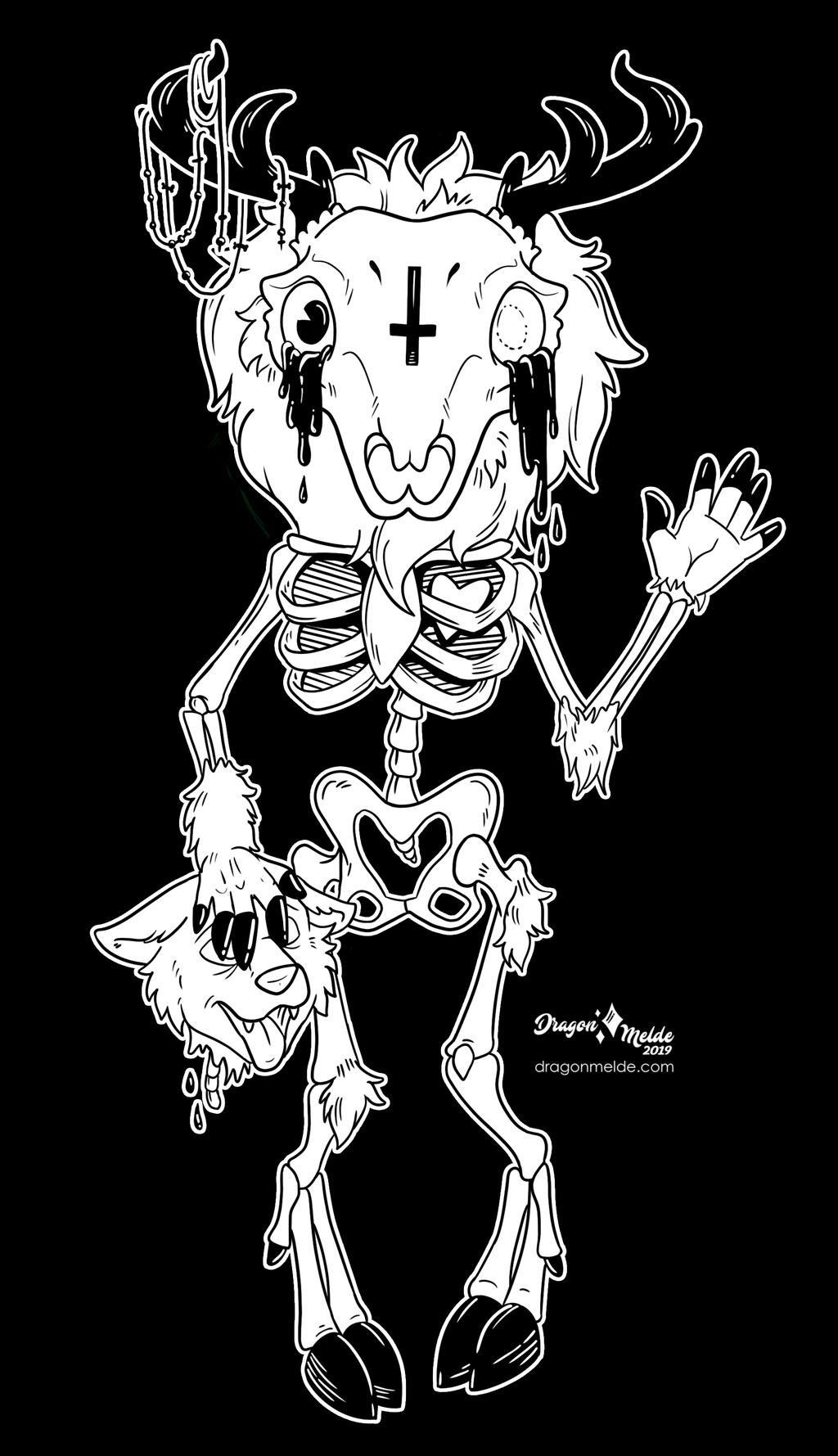 Inktober Commission 5-  Creepy Cute