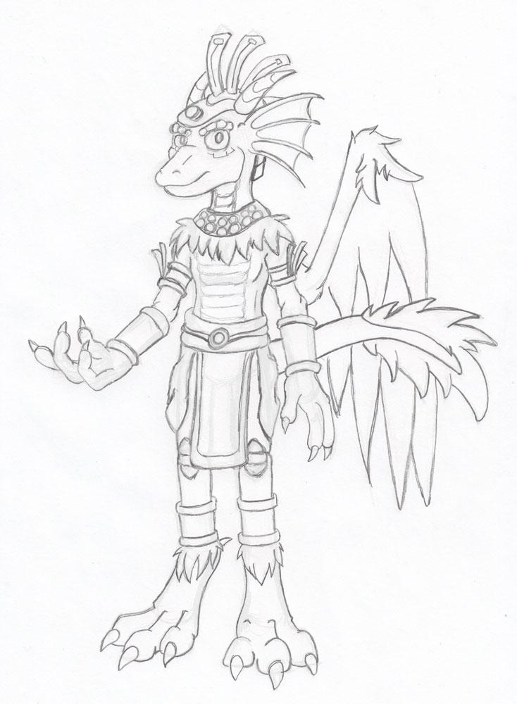 Sketch - Mystic Coatl