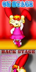 """Kari Savvy the Ballerina Plusle, """"On-Stage vs. Back-Stage"""" (Mini Comic)"""