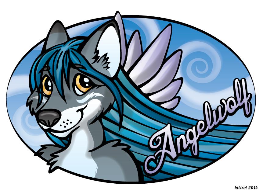 July Conbadge Exchange - Angelwolf