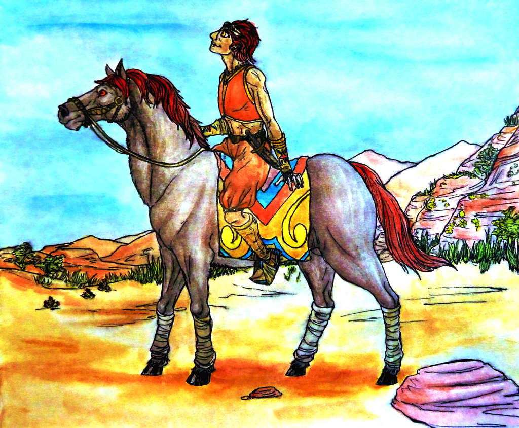 Young Ganondorf and His Horse