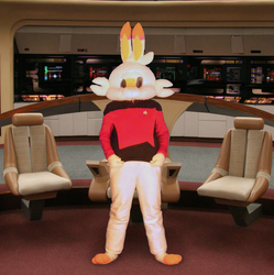 Captain Scorbunny of the U.S.S. (Insert Generic Galaxy-Class Starship Name Here.)
