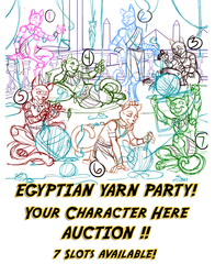 YCH Your Character Here  Egyptian Yarn Party Auction