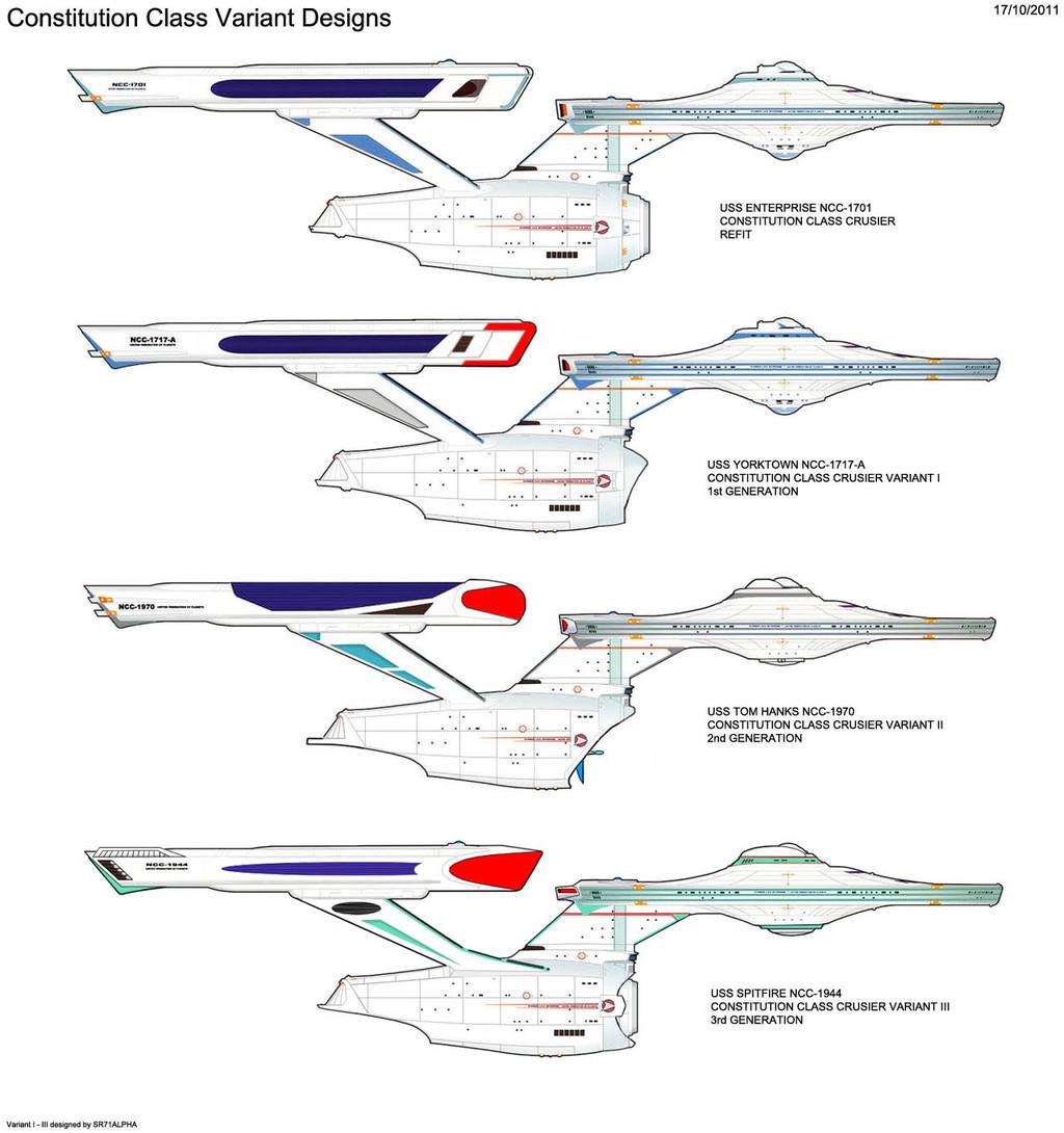 Constitution Class Variant Designs