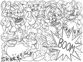 cereal_bunnies sketchpage commission (stuffing)