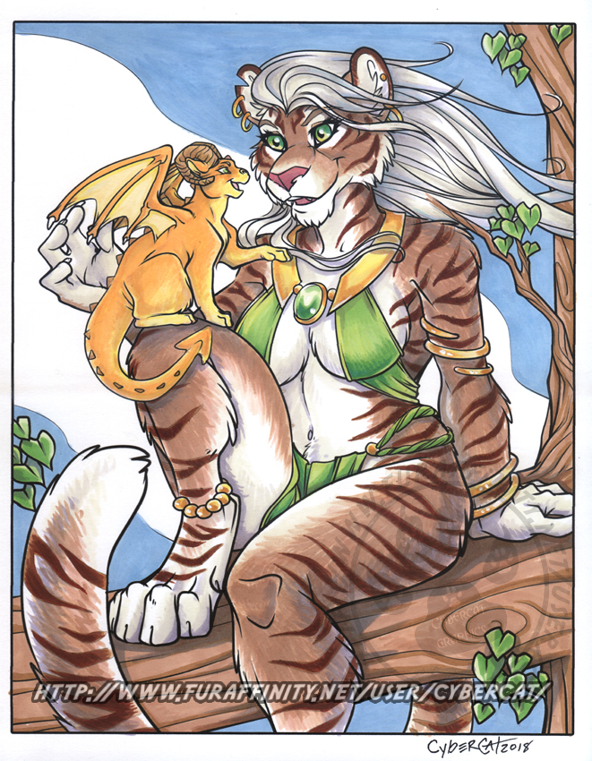 Tigress and Friend Marker Art Auction