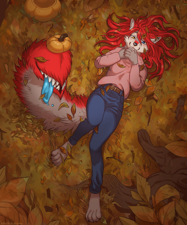 Fall Cutie - By Blacku-Draws
