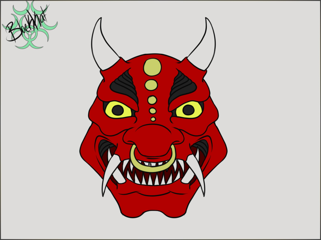 Most recent image: INktober day 15 Oni