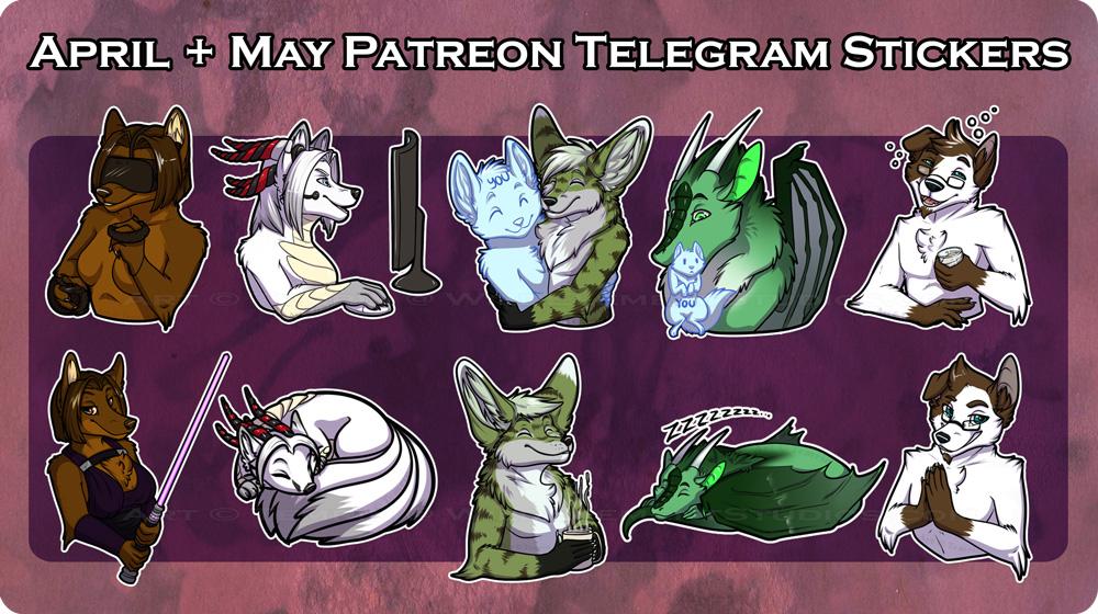 PTR - May/April Telegram Stickers