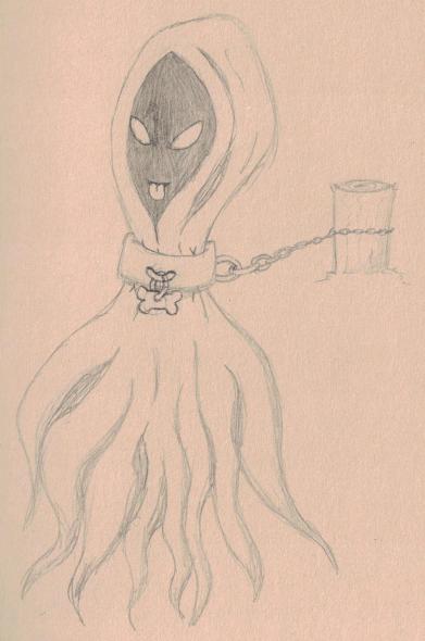 Drawtober 4 - Shackled Wraith