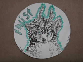 WN Commission: ink sketch badge for Twisttail