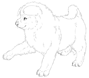 Puppy Lineart