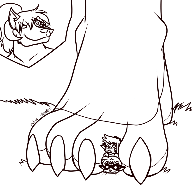 Underpaw, between toes