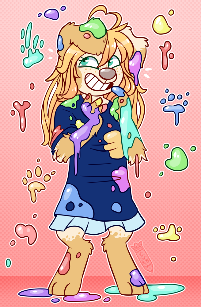 She made a heckin' mess - comm