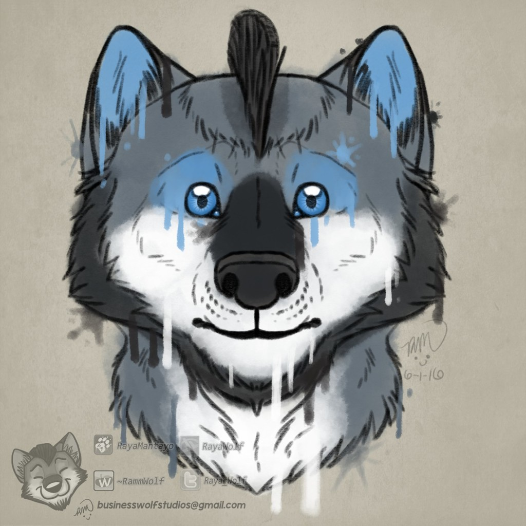 Leaking Color (Watercolor Styled Headshot, $20)