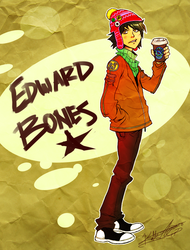 Edward thinks coffee is gross but drinks it anyway