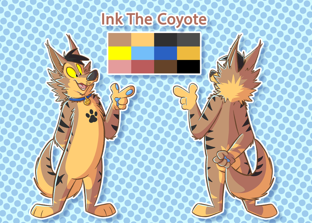 Ink The Coyote Ref-Sheet (Trade)