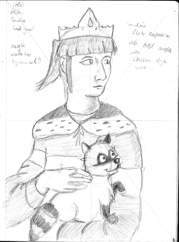 The Empress With The Raccoon (Sketch)