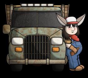 Dawson and his Old Farm Truck