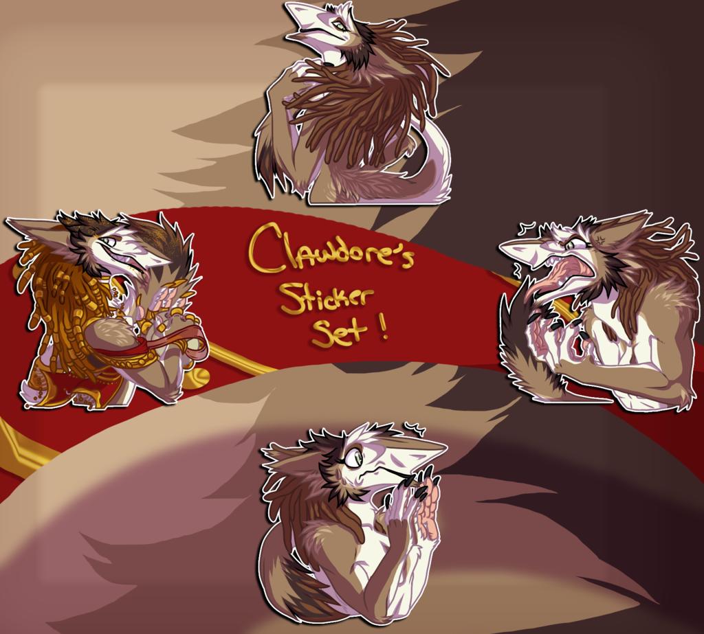 Clawdore Stickers