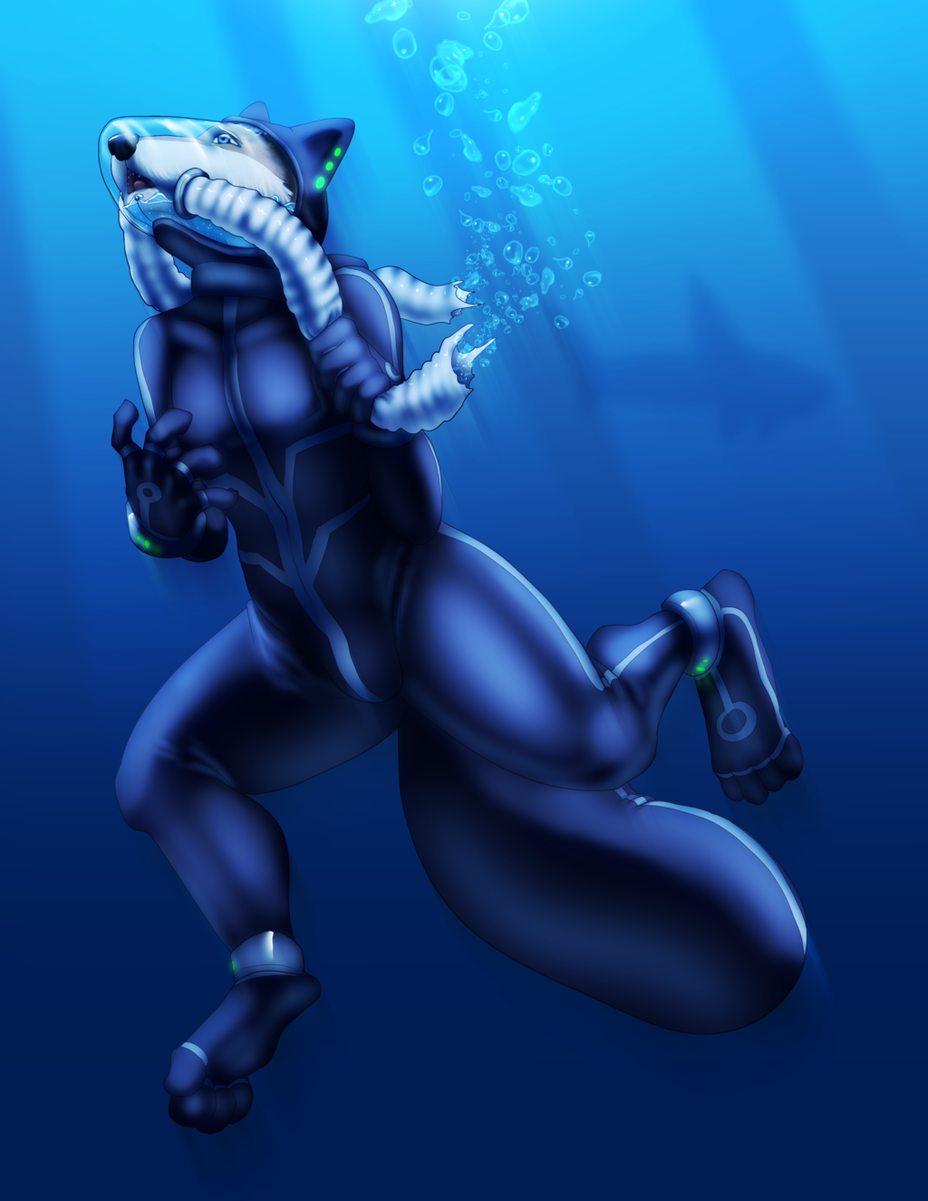 Silly Sharks!  Breathing tubes aren't squid! by Farore