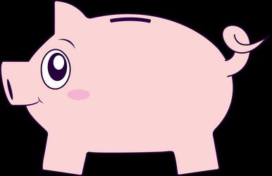 Free Goofy Piggy Bank Clip Art
