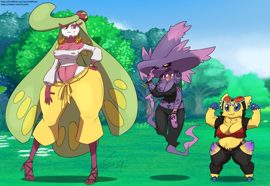 3 pokemon looking to party