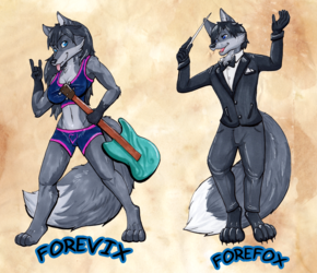 Forefox/Forevix Doublesided Badge