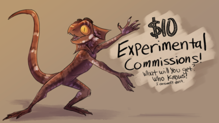 $10 Experimental Commissions! - CLOSED