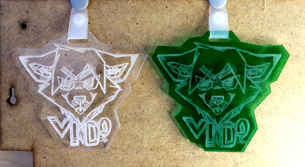 acrylic Badge test.