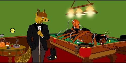 Afternoon billiard