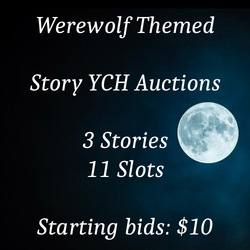 Werewolf themed story YCH auctions on FA