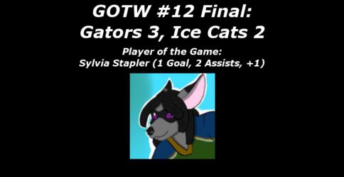FHL Season 7 GOTW #12 Final: Gators 3, Ice Cats 2