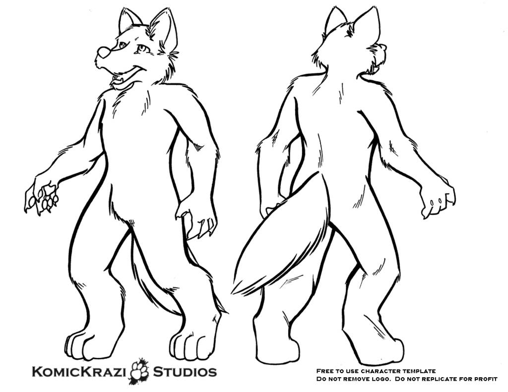 Digitigrade Canine - Free Character template