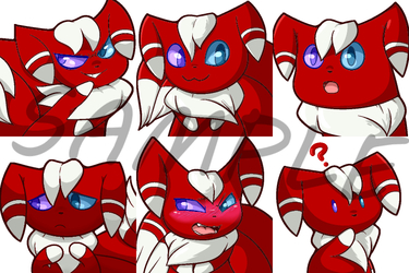 commissioned Meowstic sticker pack Set 1