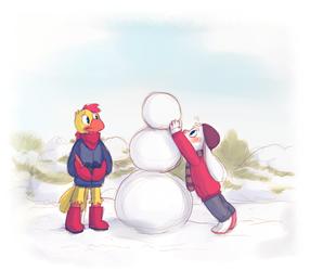Let's build a snowman!