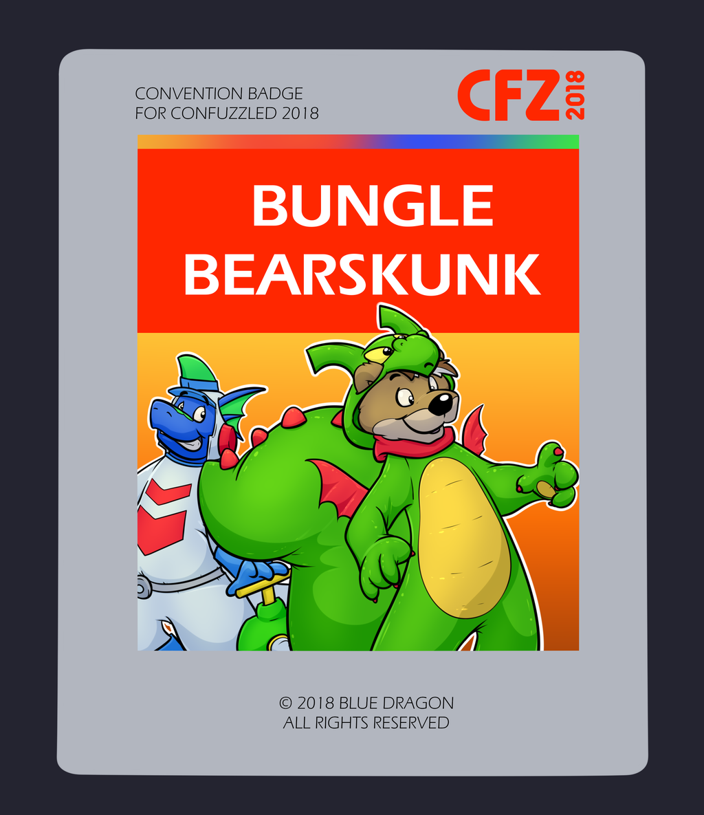 Most recent image: Confuzzled 2018 Badges - Bungle